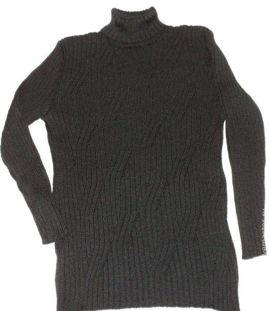 Кофты и свитера ручной работы. Ярмарка Мастеров - ручная работа. Купить Водолазка с переплетённой резинкой. Handmade. Черный, водолазка вязаная