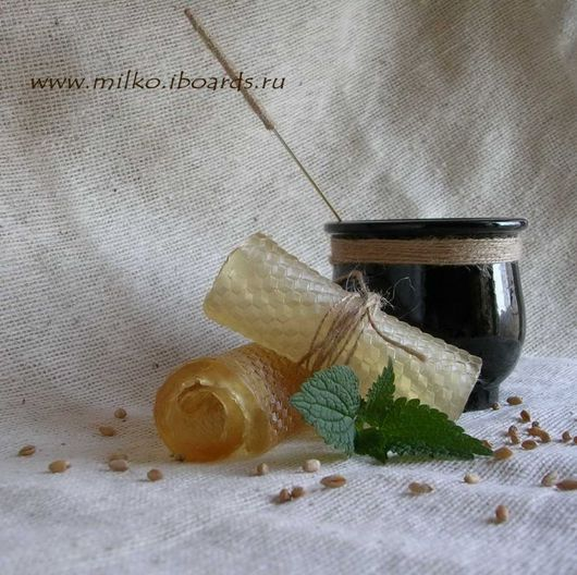 ручной работы. Ярмарка Мастеров - ручная работа. Купить Мятный мед. Handmade. Мыльная основа, масло облепихи