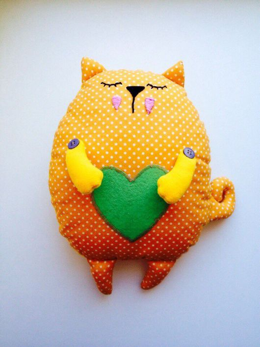 Игрушки животные, ручной работы. Ярмарка Мастеров - ручная работа. Купить Кот подушка игрушка. Handmade. Кот, игрушка