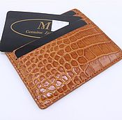Сумки и аксессуары handmade. Livemaster - original item Card holder crocodile leather IMA0135UK4. Handmade.