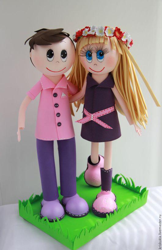 """Человечки ручной работы. Ярмарка Мастеров - ручная работа. Купить Куклы """"Мальчик с девочкой дружил..."""". Handmade. Комбинированный"""