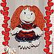 """Человечки ручной работы. Ярмарка Мастеров - ручная работа. Купить кукла вязанная """"Валюшка-везушка"""". Handmade. Кукла вязаная"""