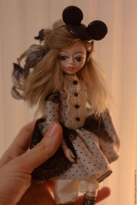 Коллекционные куклы ручной работы. Ярмарка Мастеров - ручная работа. Купить Малышка Minnie Mouse. Handmade. Черный, дисней