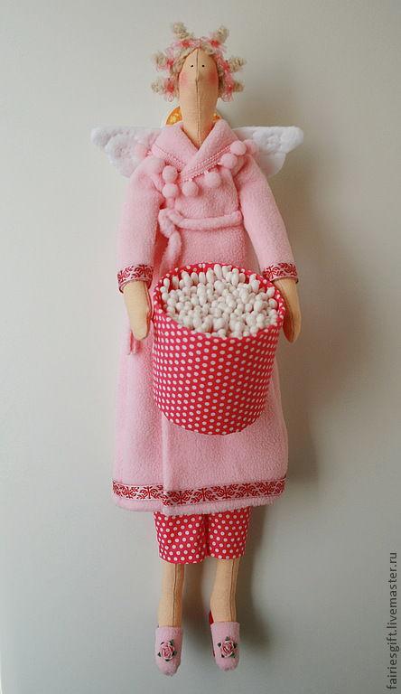 Куклы Тильды ручной работы. Ярмарка Мастеров - ручная работа. Купить Тильда Хранительница ватных палочек. Handmade. Бледно-розовый