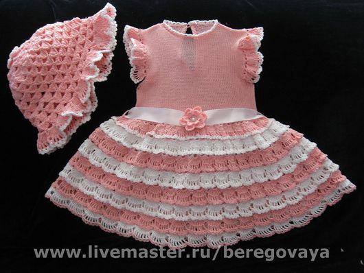 Одежда для девочек, ручной работы. Ярмарка Мастеров - ручная работа. Купить Платье для девочки Лето. Handmade. Нарядный комплект, для новорожденной