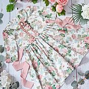"""Платья ручной работы. Ярмарка Мастеров - ручная работа Платье на девочку """"Pink vintage"""". Handmade."""