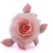 """Цветы и флористика ручной работы. Ярмарка Мастеров - ручная работа Цветы из ткани. Роза """"Тайна"""". Handmade."""