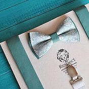 Аксессуары handmade. Livemaster - original item Tie Damascus nays gray-green suspenders adult. Handmade.
