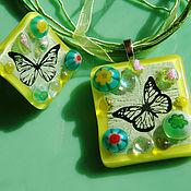 Украшения handmade. Livemaster - original item Set fusing Summer, butterflies, flowers!. Handmade.