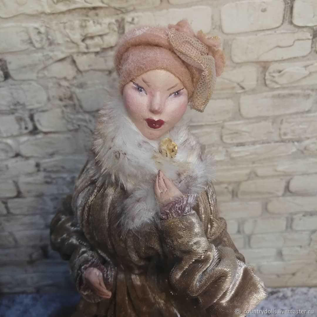 Interior doll, collectible 'Waiting for the train', Interior doll, Mezhdurechensk,  Фото №1