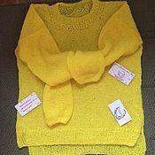 """Одежда ручной работы. Ярмарка Мастеров - ручная работа Мохеровый свитер """"Цыплёнок"""". Handmade."""