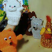 """Куклы и игрушки ручной работы. Ярмарка Мастеров - ручная работа Куклы перчаточные """"Теремок"""". Handmade."""