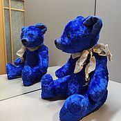 Мишки Тедди ручной работы. Ярмарка Мастеров - ручная работа Мишки Тедди: Синий мишка. Handmade.
