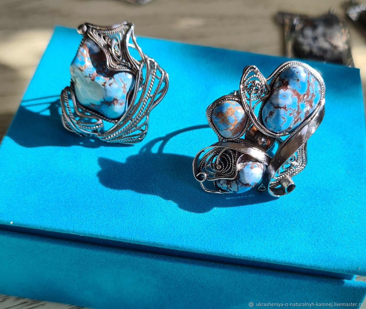 Turquoise rings, Rings, Moscow,  Фото №1