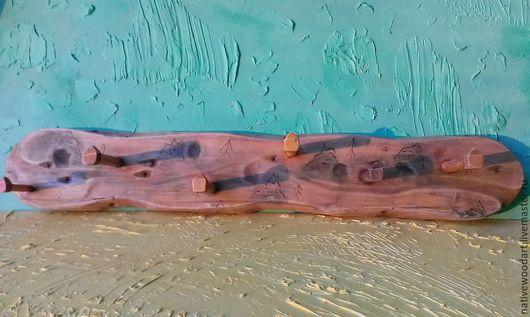 разноцветный, массив дерева, вешалка, настенная вешалка, деревянная вешалка, вешалка для одежды, вешалка в прихожую, вешалка в детскую, вешалка ручной работы, прихожая, ручная работа