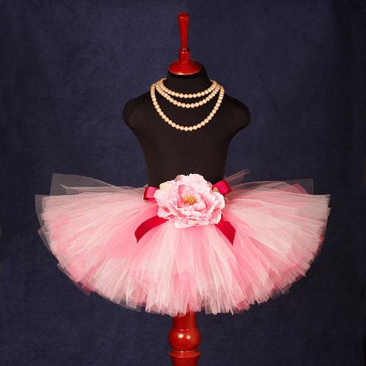 """Юбки ручной работы. Ярмарка Мастеров - ручная работа. Купить """"Розовый фламинго"""" пышная юбка-пачка из фатина. Handmade. Юбка"""