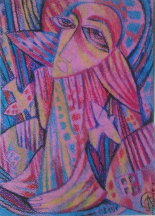 Символизм ручной работы. Ярмарка Мастеров - ручная работа. Купить Разросся в розовую гладь. Handmade. Брусничный, картина для интерьера