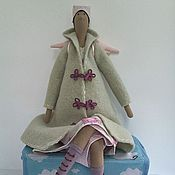 Куклы и игрушки ручной работы. Ярмарка Мастеров - ручная работа Осенний Ангел - Оригинальная текстильная кукла Тильда. Handmade.