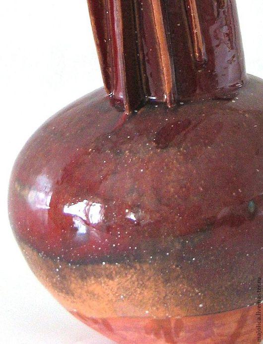 Вазы ручной работы. Ярмарка Мастеров - ручная работа. Купить Керамическая ваза. Handmade. Керамика, вазы в интерьер, бордовый
