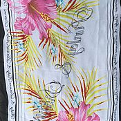 Материалы для творчества handmade. Livemaster - original item Silk stole Lily. Handmade.