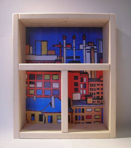 Furniture handmade. Livemaster - handmade. Buy Shelf for small items 'Window with a view of the city'. moscow.