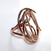 Материалы для творчества handmade. Livemaster - original item The basis for the ring Eseniya - gilding 585. Handmade.