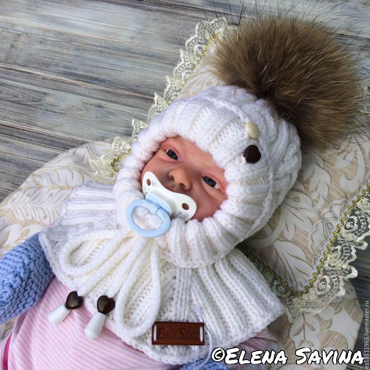 Вязание шлема для новорожденного