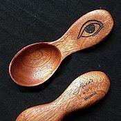 "Посуда handmade. Livemaster - original item Copy of Spoon with ""Direwolf"". Handmade."