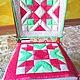 Текстиль, ковры ручной работы. Ярмарка Мастеров - ручная работа. Купить Комплект чехлов на стулья. Handmade. Разноцветный, яркий