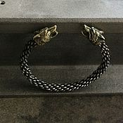 Украшения handmade. Livemaster - original item Bracelet white bronze - Wolf - Dog. Handmade.