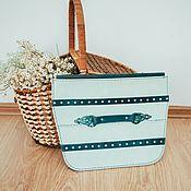 Сумки и аксессуары handmade. Livemaster - original item Clutch with forged door fittings. Handmade.