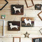 Ключницы ручной работы. Ярмарка Мастеров - ручная работа Панно ключница собака. Handmade.