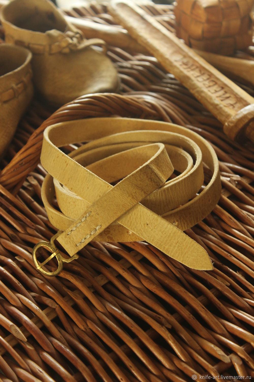 Ремень с лировидной пряжкой. 1, Пояса, Палех,  Фото №1