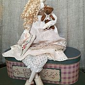 Моника кукла в стиле тильда