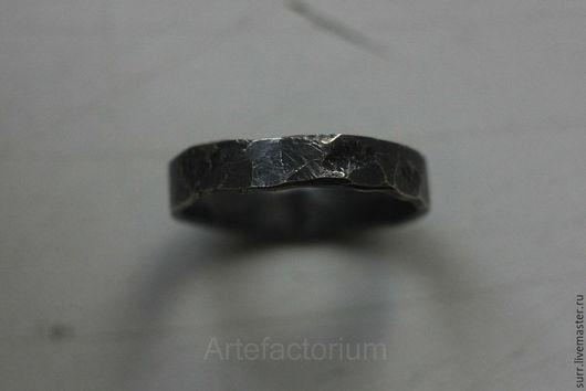 """Кольца ручной работы. Ярмарка Мастеров - ручная работа. Купить Кованое кольцо """"Совершенство""""  № 97. Handmade. Темно-серый"""