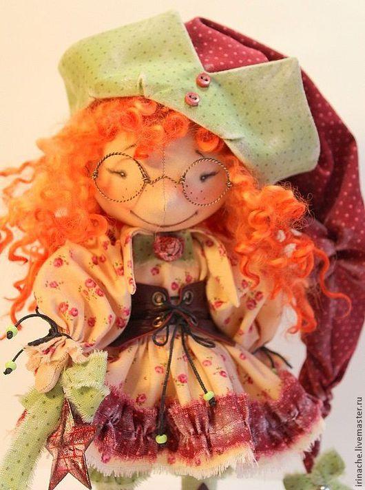 Коллекционные куклы ручной работы. Ярмарка Мастеров - ручная работа. Купить Гномочка Рыжик. Handmade. Гном, хлопок, очки