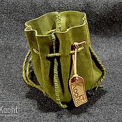 Фен-шуй и эзотерика handmade. Livemaster - original item Green leather pouch. Handmade.