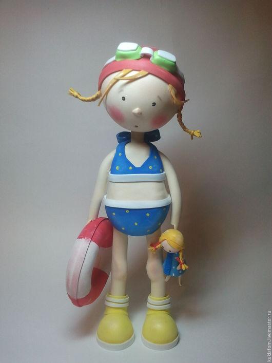 Коллекционные куклы ручной работы. Ярмарка Мастеров - ручная работа. Купить Плавчиха. Handmade. Синий, кукла, кукла интерьерная