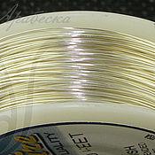 Проволока 0.41мм эконом-упаковка сияющего серебряного цв. 92м США