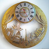 Для дома и интерьера handmade. Livemaster - original item Wall clock Golden Petersburg. Handmade. Handmade.