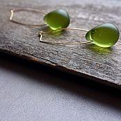 Украшения handmade. Livemaster - original item Gold earrings with frosted pears. Handmade.