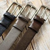 Сет из трех кожаных мужских ремней