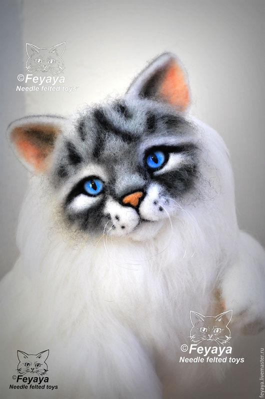 Игрушки животные, ручной работы. Ярмарка Мастеров - ручная работа. Купить Кот Оскар. Handmade. Белый, коты и кошки