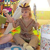 Одежда детская handmade. Livemaster - original item Indian boy costume for home games. Handmade.