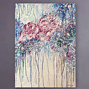 Картины и панно handmade. Livemaster - original item Oil painting Abstract flowers. the picture with the roses. Handmade.