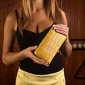 Сумки и аксессуары handmade. Livemaster - original item Cosmetic bag with crocodile leather IMA0032Y4. Handmade.