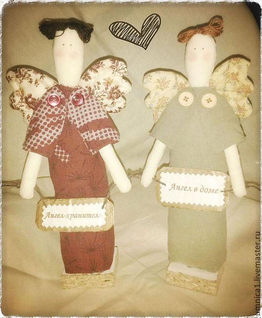 """Куклы Тильды ручной работы. Ярмарка Мастеров - ручная работа. Купить Кукла интерьерная """"Ангел в доме"""" (ангелок, ангелочек). Handmade."""