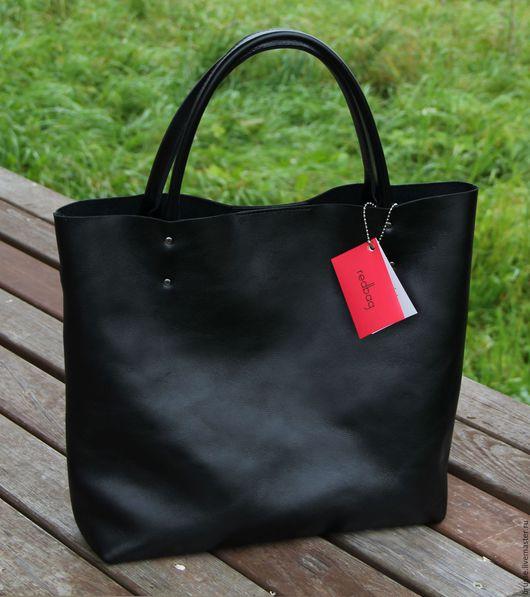 Женские сумки ручной работы. Ярмарка Мастеров - ручная работа. Купить Сумка BIG Redbag. Handmade. Однотонный, сумка, черный