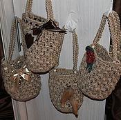 Сумки и аксессуары handmade. Livemaster - original item Handbags made of jute with a variety of decor.. Handmade.