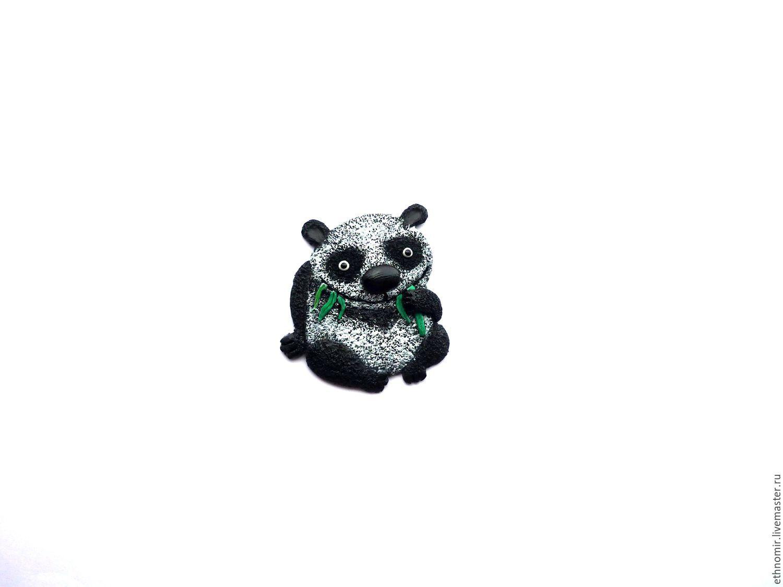 brooch `panda`
